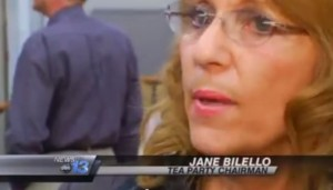 Jane Bilello headed up the voter roll challenges in Buncombe County. (Click image to view TV newscast of the results.)